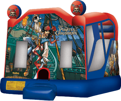 Pirates of Caribbean Slide Bounce House Combo