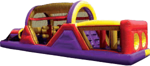 Backyard Obstacle Course Bounce House