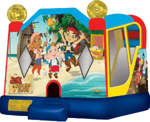 Jake and Neverland Pirates Slide Bounce Combo