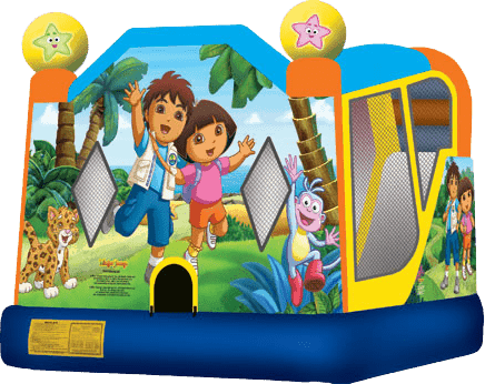 Dora and Diego Slide Bounce Combo