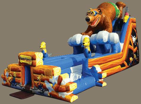 Bear Camp Dual Lane Inflatable Water Slide