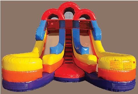 Junior Inflatable Dual Lane Water Slide